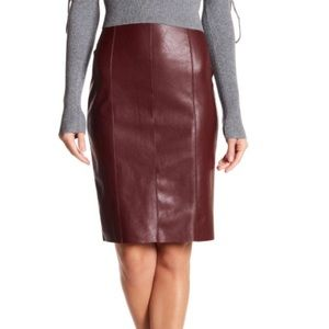 Do&be faux leather high-waisted midi skirt, NWOT